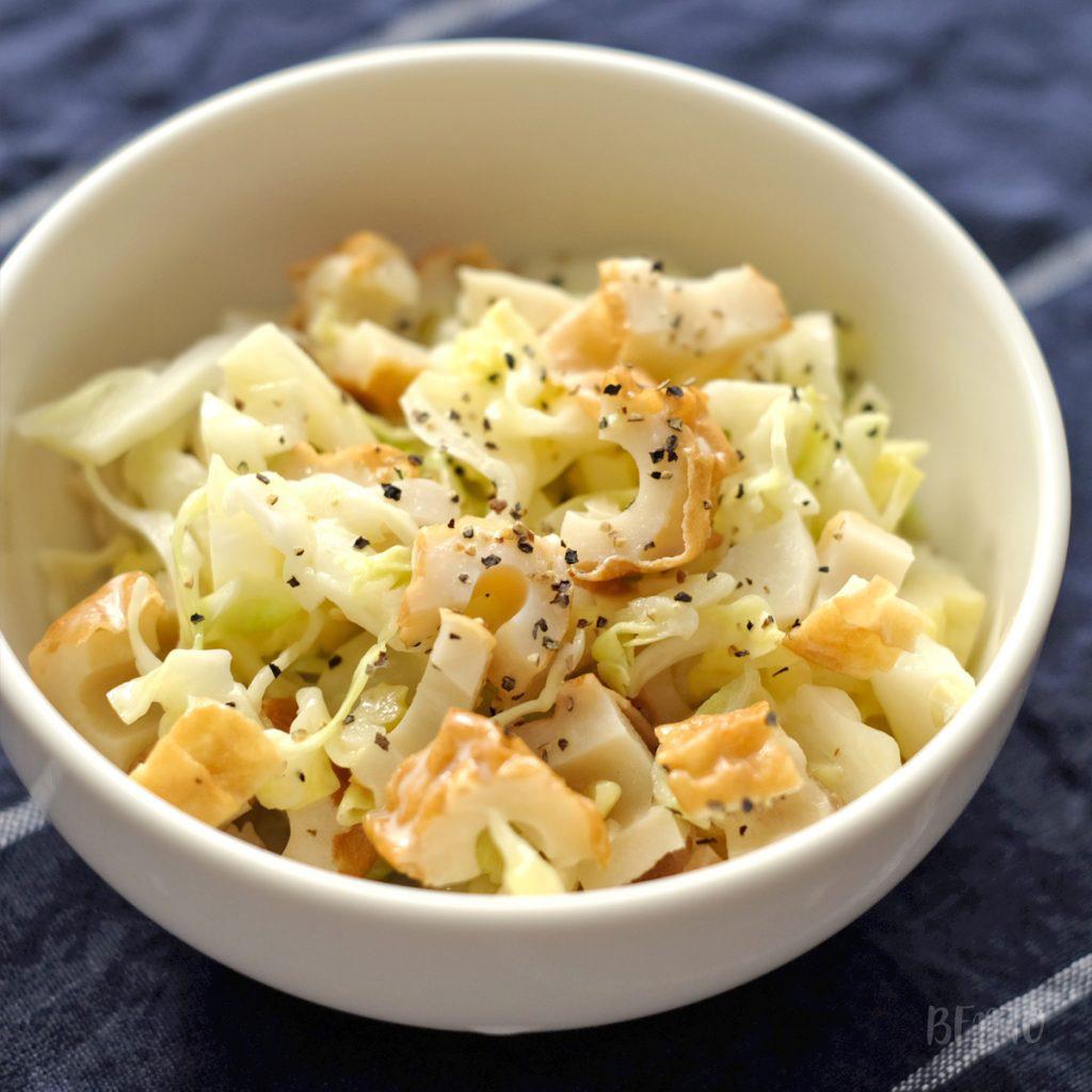 弁当の作り置き・常備菜に◎の『キャベツとちくわの中華風マヨネーズ和え』