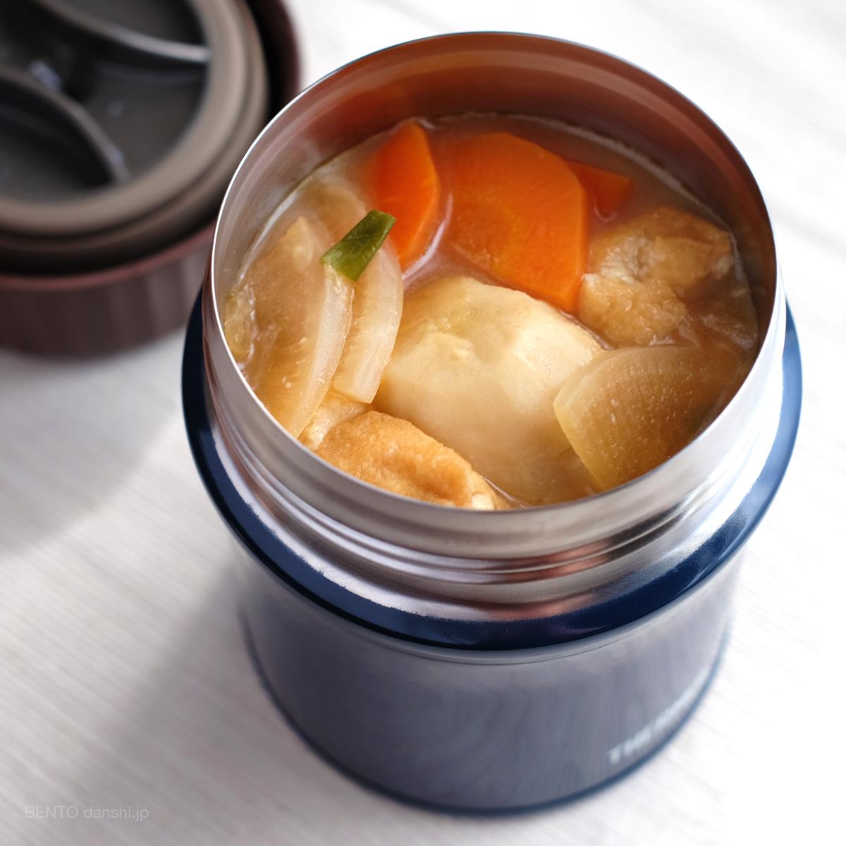 具沢山けんちん汁。男の弁当生活にも嬉しい定番・簡単スープジャーレシピ