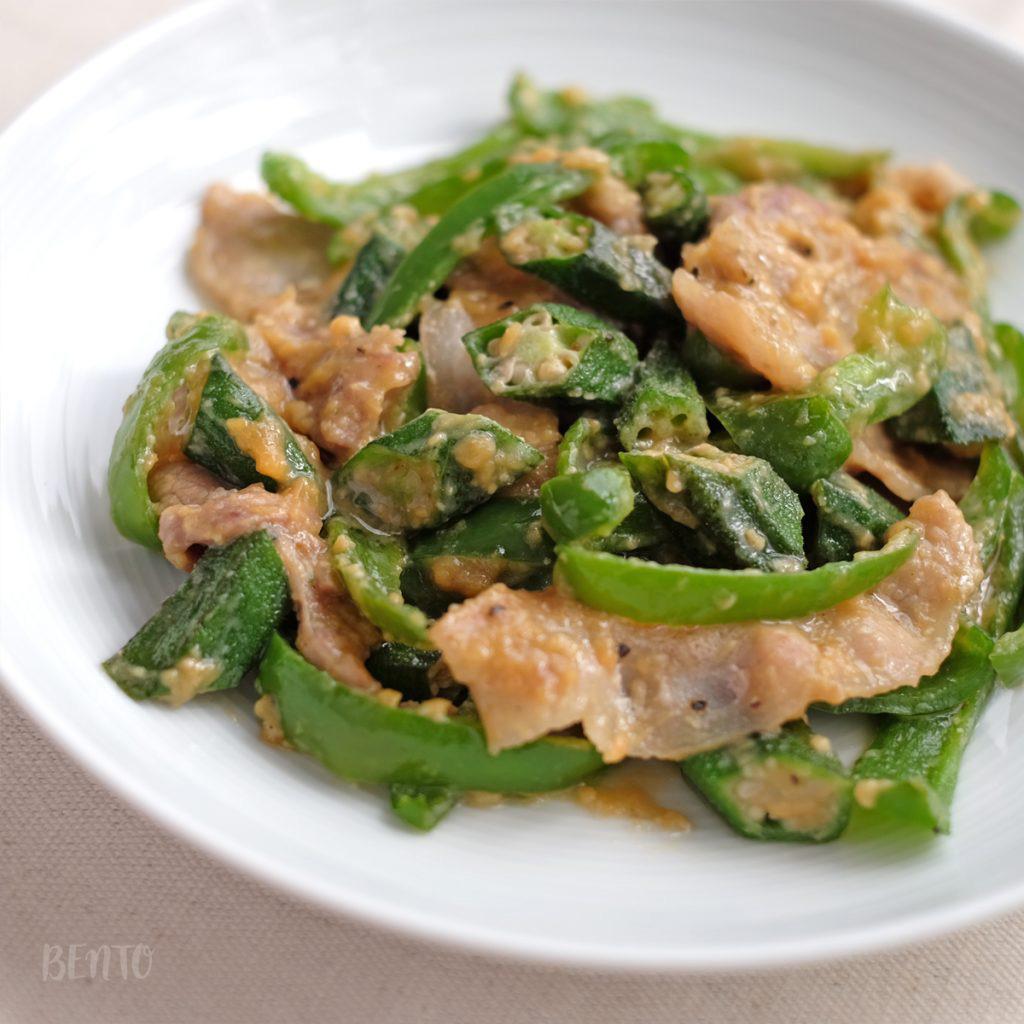 『オクラの豚味噌炒め』はオクラの大量消費レシピにもぴったり。オクラの作り置き・常備菜レシピにも活躍!