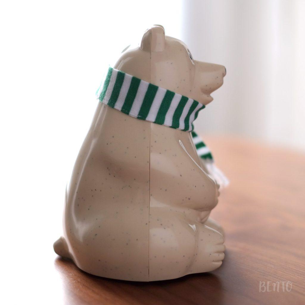 シロクマ貯金箱 マフラー付き Polar Bear Money Box 2017