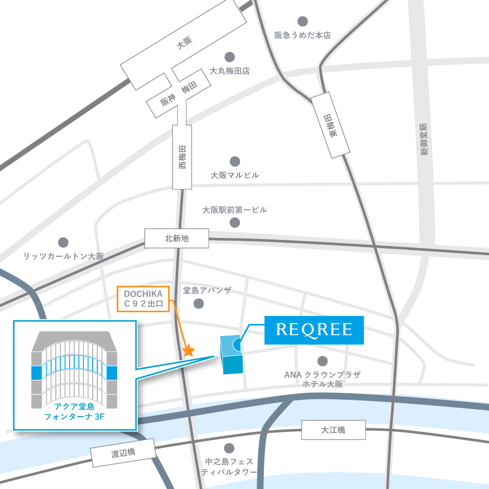 Reqree Dojima(リクリー堂島)地図